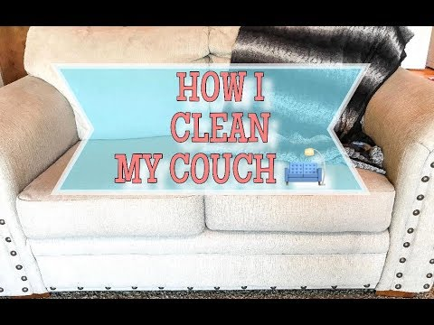 HOW I CLEAN MY COUCH   CLEANING A LIGHT COLORED COUCH
