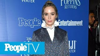 Emily Blunt Says Flying As Mary Poppins Was 'Totally Terrifying' | PeopleTV