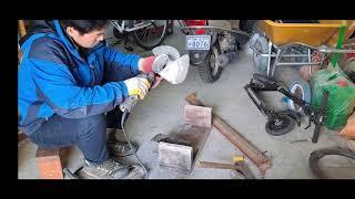 선외기 알루미늄 수쿠류 용접해서 수리하기 아크용접기 알…