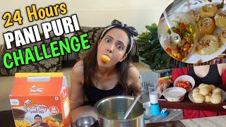 Eating ONLY Pani Puri For 24 Hours Challenge | Tummy Ka Kya Haal Hua 😱