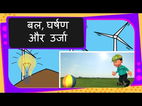 Science - What is work, energy and frictional force - Hindi