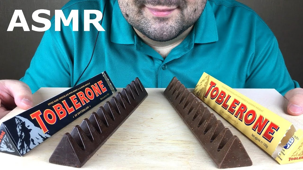 Asmr Toblerone Chocolate Eating Milk And Dark Chocolate Mukbang No Talking
