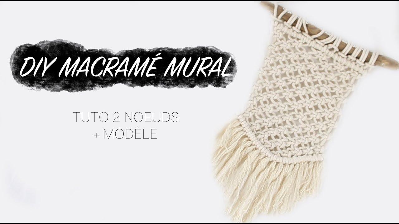 diy macrame mural 2 noeuds modele