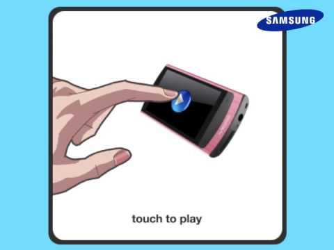 Samsung YP-R1 MP3 Player Animation