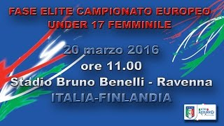 Italy U17 vs Finland U17 (W) full match
