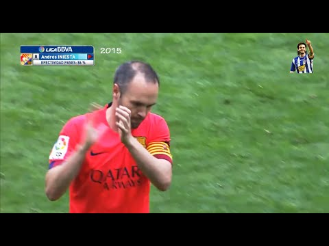 Espanyol fans applaud Iniesta, still after 5 years