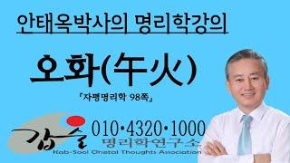 오화(午火)의 특성과 심리(지지)-자평명리학95쪽-갑술명리학-안태옥박사의 명품사주강의