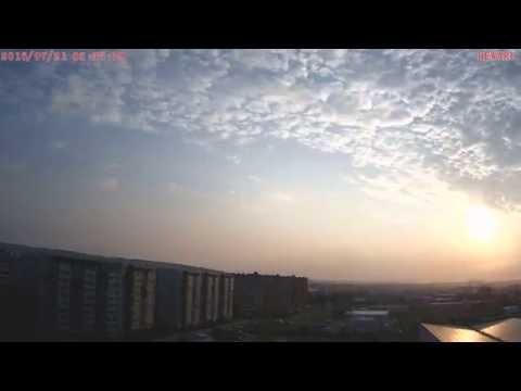 Восход солнца - облака (Timelapse) (Красноярск 21 июля 2016 г.)