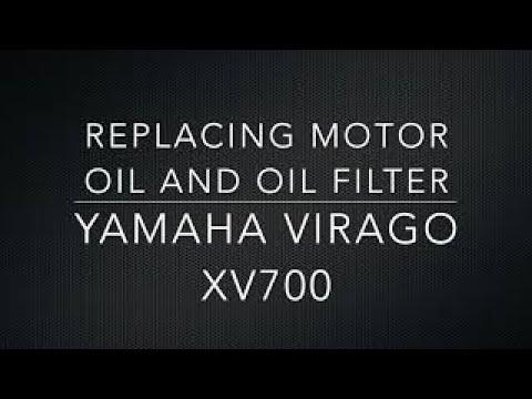 Yamaha Virago Replacing Motor Oil And Oil Filter 85 XV700