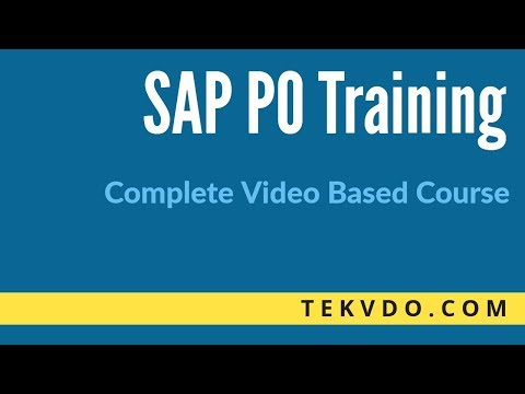 SAP PO Training - Complete Video Based Course - SAP PO (Process Orchestration)