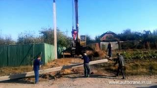 Услуги автокрана Харьков - Монтаж опор ЛЭП(, 2015-12-11T12:09:14.000Z)