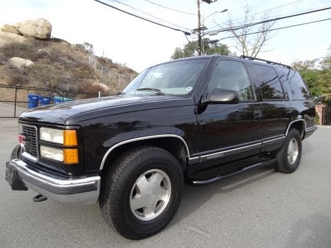 1999 GMC Yukon SLT SUV 4x4 Tahoe 350 V8 Full Review Video