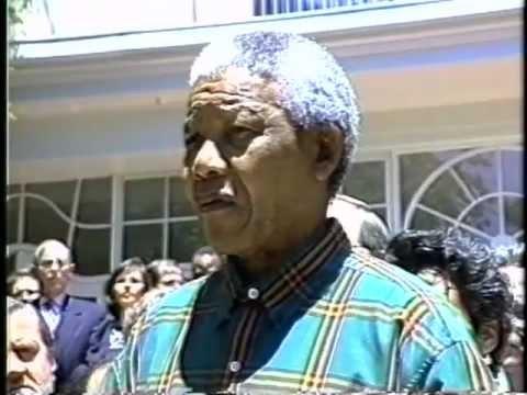 Nelson Mandela & Desmond Tutu at 1994 World Pension Forum Conference