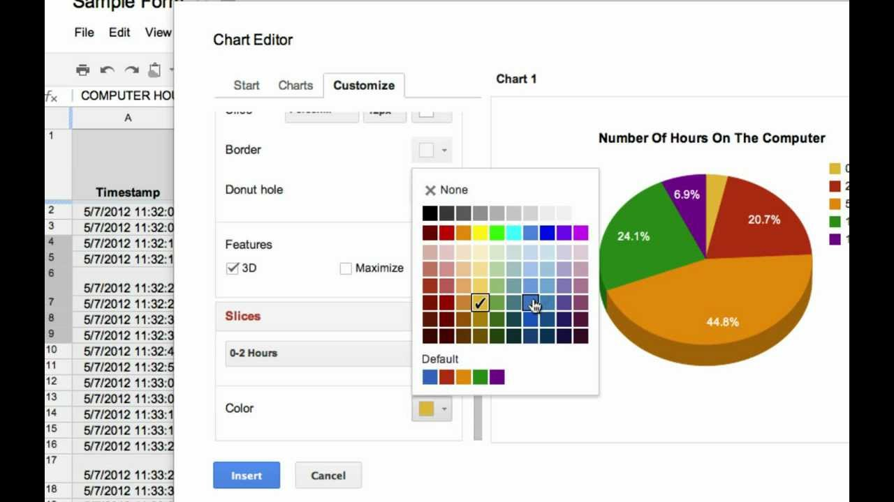 Making charts in google spreadsheets youtube nvjuhfo Image collections
