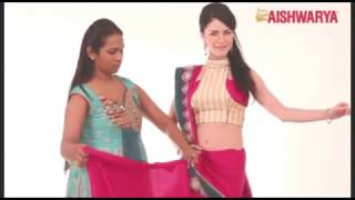 Draping a saree in Gujarati Style