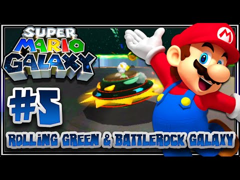 Super Mario Galaxy (1080p 60FPS 100%) - Part 5: Rolling Green & Battlerock Galaxy