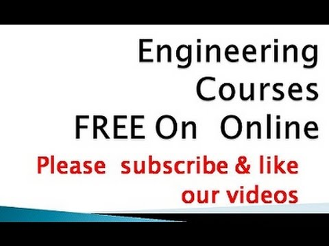 Engineering  Courses FREE On  Online