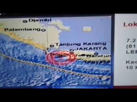 Gempa bumi Lebak Banten 6,4sr  23 Januari 2018
