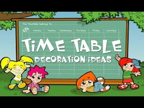 time table decoration ideas youtube