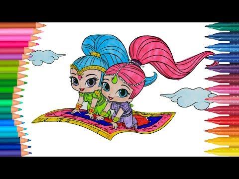 Shimmer I Shine Jak Narysować Małych Rączek Kolorowanka Dla