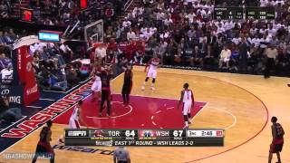 Toronto Raptors vs Washington Wizards - Full Highlights | Game 3 | April 24, 2015 | NBA Playoffs