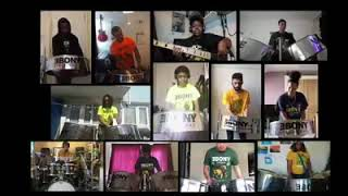 Ebony Steelband - Michael Jackson/Lionel Richie ~  We Are The World #StayAtHomeSessions