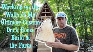 Working on the Walls of my Ultimate Custom Duck House Build at the Farm