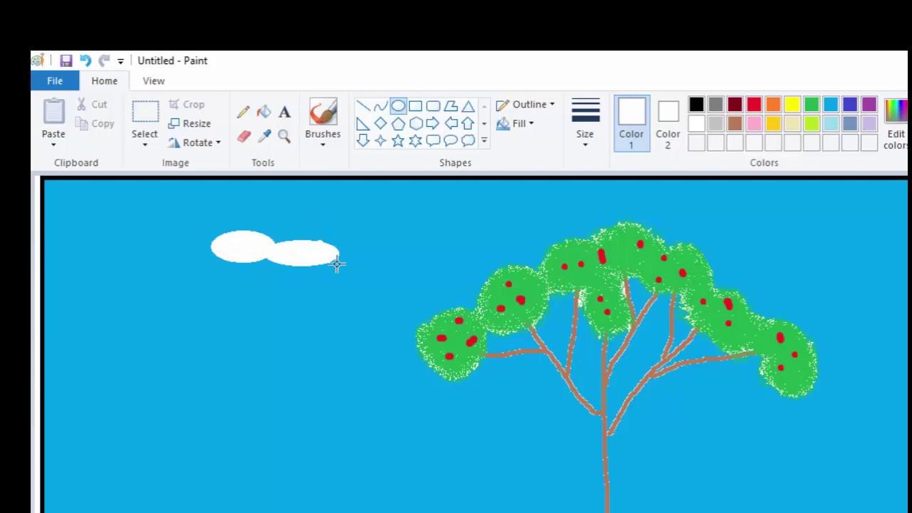 Tutorial Menggambar Pohon dengan Air Brush di Paint - Elite Kid ...