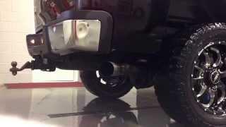 lml duramax w afe 4 exhaust no muffler startup