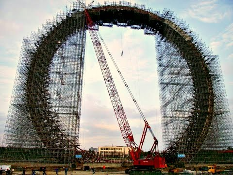 Tallest Ferris Wheel In The World >> Construction Of The World S Tallest Ferris Wheel Youtube