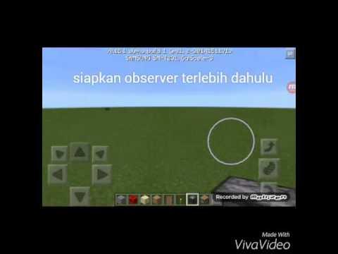 Minecraft pe.cara membuat observer supaya bekerja