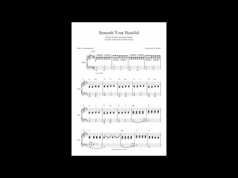 Beneath Your Beautiful by Labrinth ft. Emeli Sandé - Piano Accompaniment (Sheet Music)