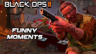 Black Ops 2 Zombies Funny Moments - Talking Robot, The Abyss, Elevator Troll (BO2 Zombies)