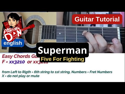Guitar Chords: Superman Tutorial (w/ Guitar Cover)