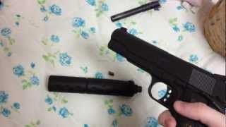 How to silence an airsoft GBB gun (Actually makes it silent)