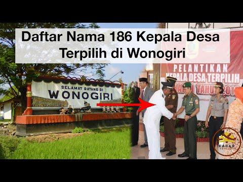 Nama-nama 186 Kades Wonogiri Terpilih | KABAR WONOGIRI
