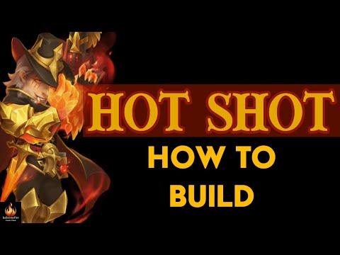 Hot Shot Best Builds Castle Clash New Hero