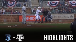 Baseball: Highlights | A&M 4, Rhode Island 3