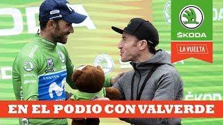 En el podio con Alejandro Valverde | Ibon Zugasti | La Vuelta con Škoda