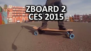 ZBoard 2 Blue Next Gen Electric Skateboard - CES 2015