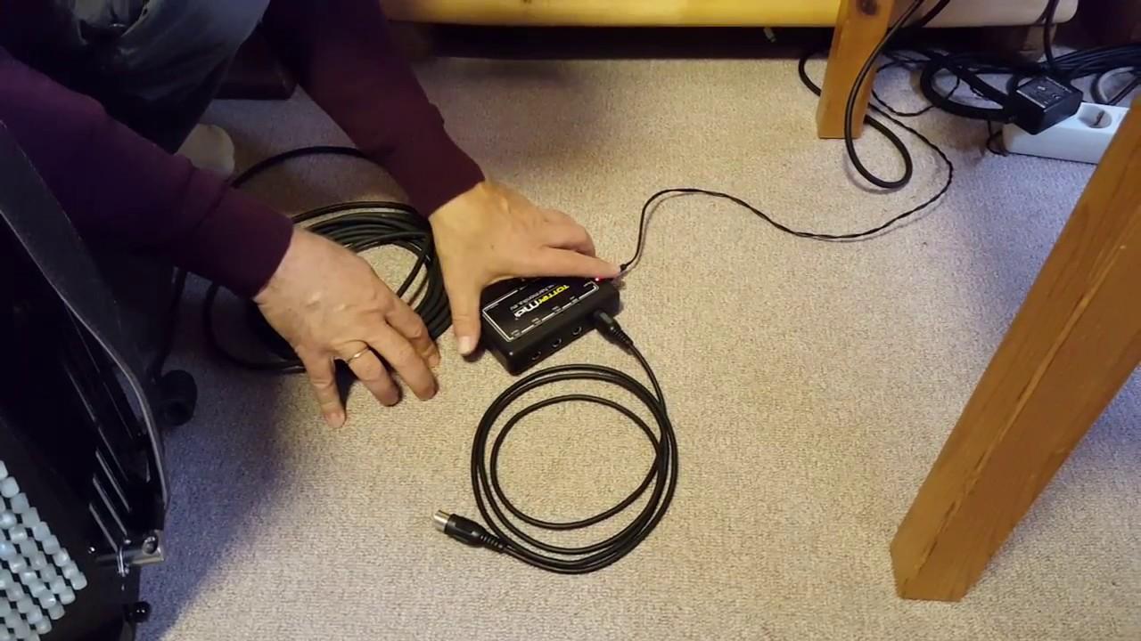 2a  Instrument mit MIDI-Interface und iPad verbinden (Beispiel mit  iConnectAUDIO4