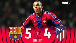 Barcelona 5 x 4 Atlético de Madrid ● Copa Del Rey 96/97 Extended Goals \u0026 Highlights HD