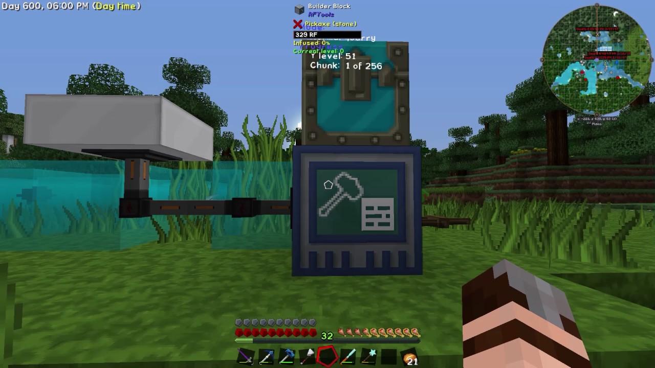 Minecraft Beyond RFTools Builder Quarry How To YouTube - Minecraft kostenlos spielen keine demo