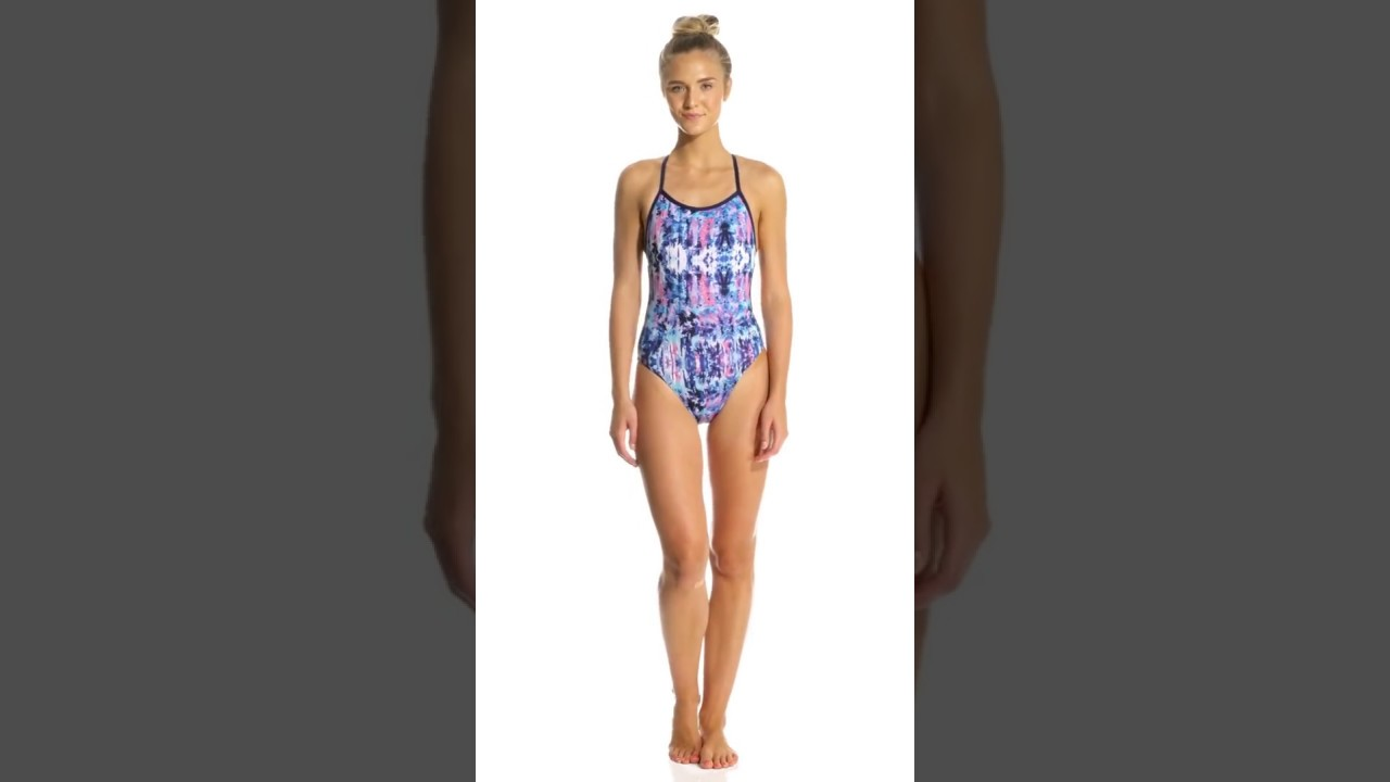 Dolfin Bellas Women s Azure Tie Back One Piece Swimsuit  26f645673b