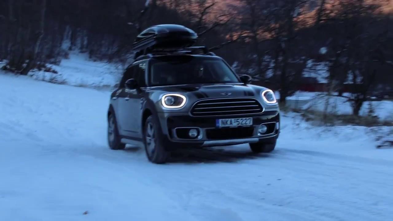 Mini Countryman Cooper All4 2017 Driving In Snow Winter Tires Goodyear Ultragrip Performance Gen 1