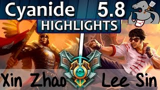[Highlights] Cyanide - Xin Zhao vs Lee Sin - Jungle - Master S5 | 7