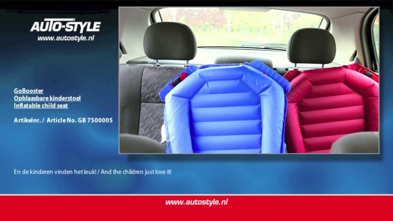 GoBooster opblaasbare kinderstoel by AutoStyle  YouTube