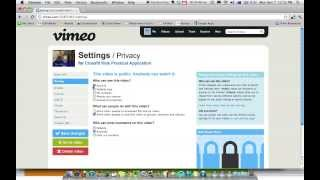How To Password Protect A Video In Vimeo(Want to send a video to a friend but you have private content? Then password protect it! Here is a quick explanation on how to password protect your Vimeo ..., 2013-11-07T14:11:00.000Z)
