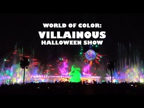 Villainous World Of Color Halloween Show At Disney California Adventure