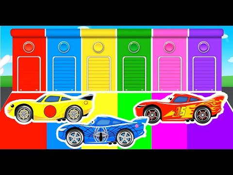 Thumbnail: COLOR Lightning McQueen and Spiderman Cars Cartoon for Kids and Children w Learn Colors Fun Video